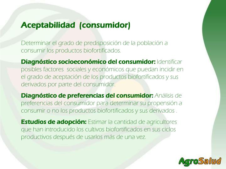 Aceptabilidad  (consumidor)