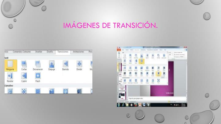 Imágenes de transición.