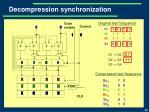 decompression synchronization