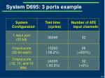 system d695 3 ports example