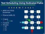 test scheduling using dedicated paths1