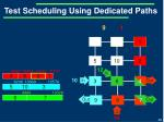 test scheduling using dedicated paths10
