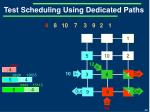 test scheduling using dedicated paths4