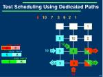 test scheduling using dedicated paths5
