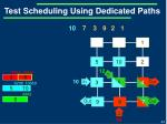 test scheduling using dedicated paths6