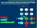 test scheduling using dedicated paths7