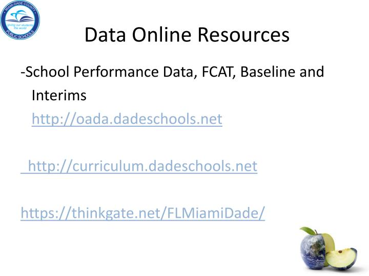 Data Online Resources