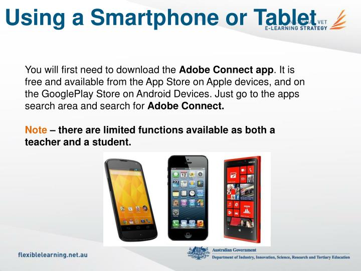 Using a Smartphone or Tablet