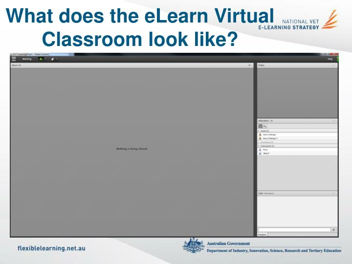 What does the eLearn Virtual Classroom look like?