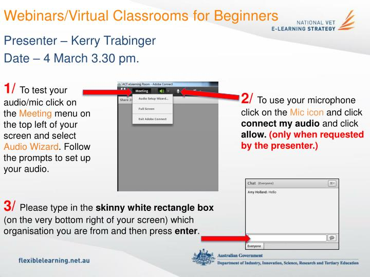 Webinars virtual classrooms for beginners