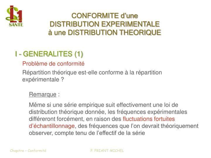 I - GENERALITES (1)