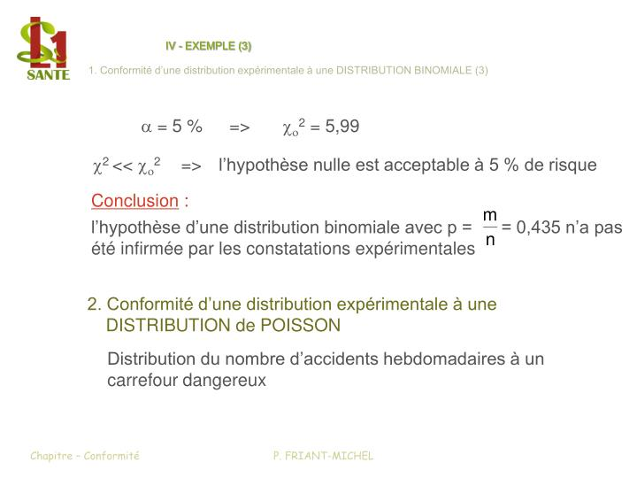 IV - EXEMPLE (3)