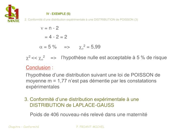 IV - EXEMPLE (5)