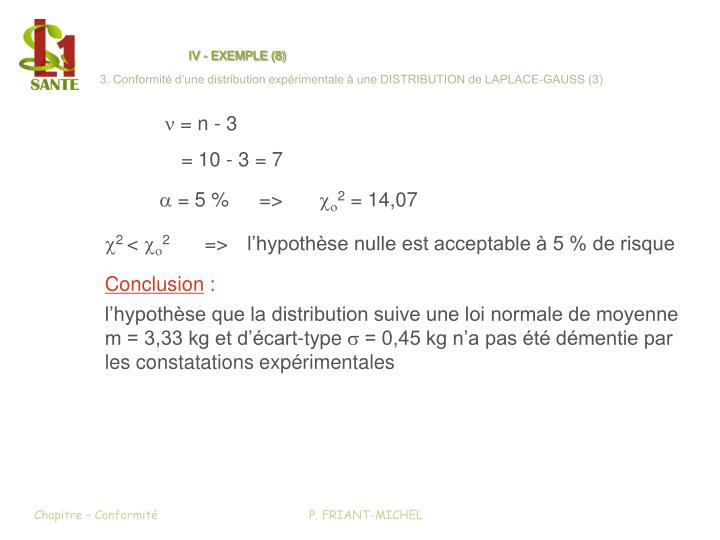 IV - EXEMPLE (8)