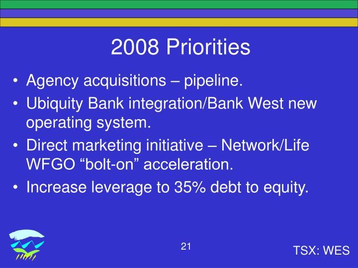 2008 Priorities