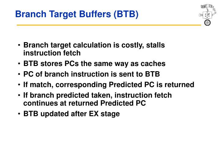 Branch Target Buffers (BTB)