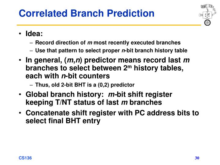 Correlated Branch Prediction