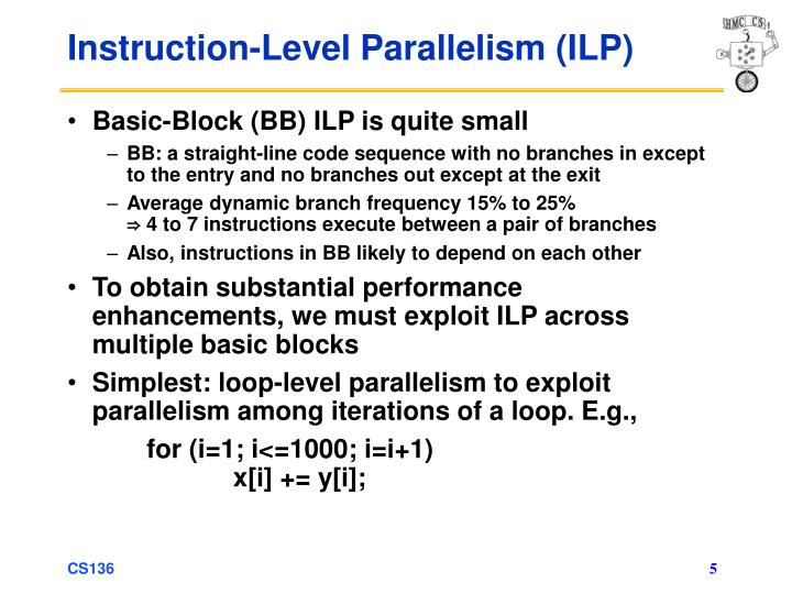 Instruction-Level Parallelism (ILP)
