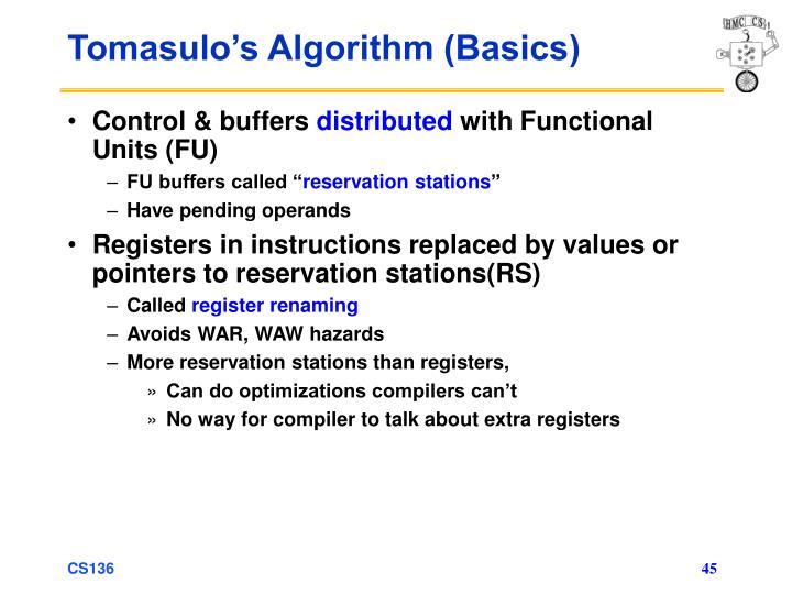 Tomasulo's Algorithm (Basics)