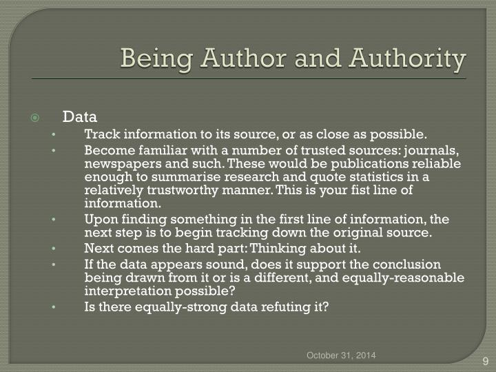 Being Author and Authority