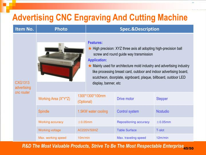 Advertising CNC Engraving And Cutting Machine