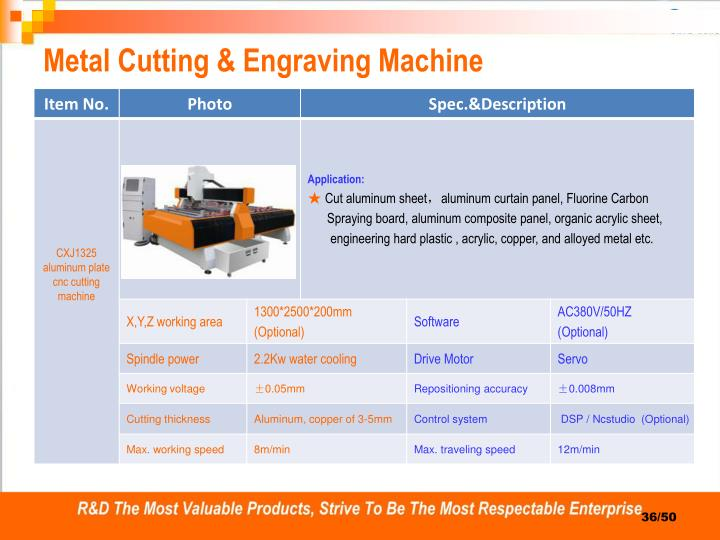 Metal Cutting & Engraving Machine