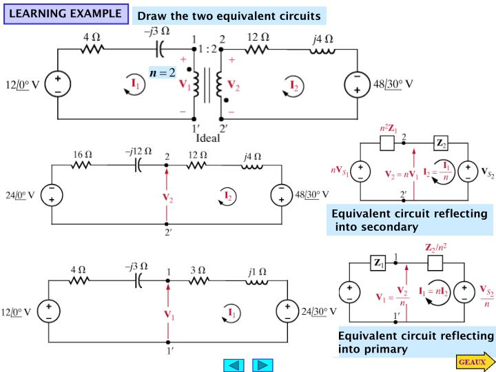 Equivalent circuit reflecting