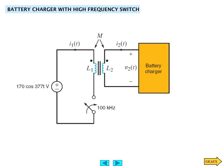 BATTERY CHARGER WITH HIGH FREQUENCY SWITCH