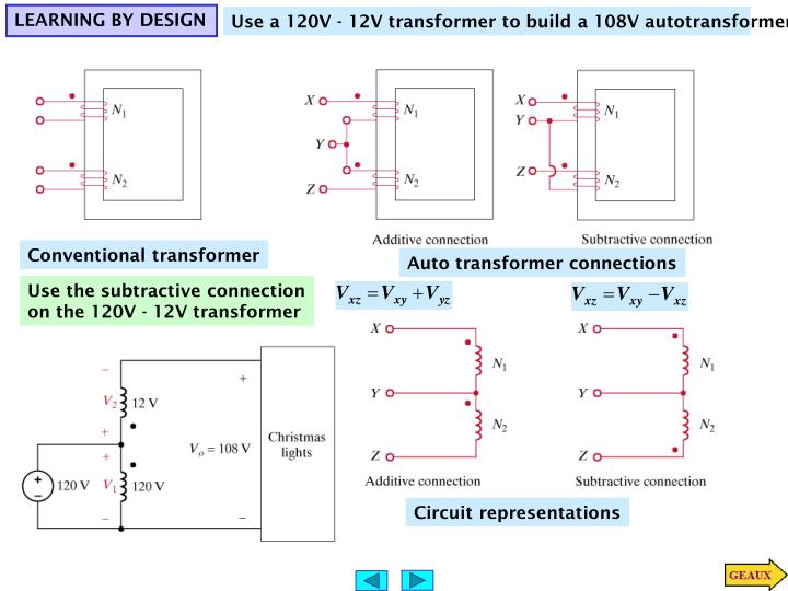 Auto transformer connections