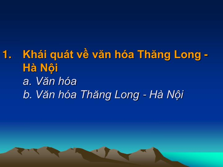 Khi qut v vn ha Thng Long - H Ni