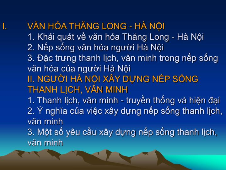 VN HA THNG LONG - H NI