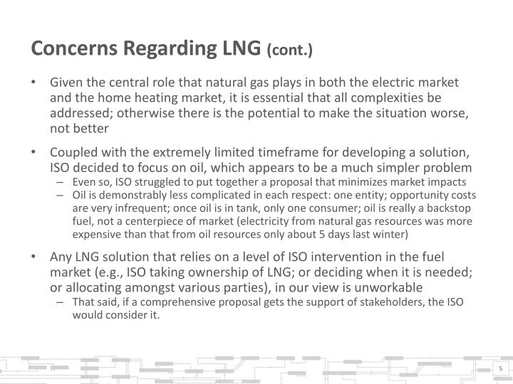 Concerns Regarding LNG