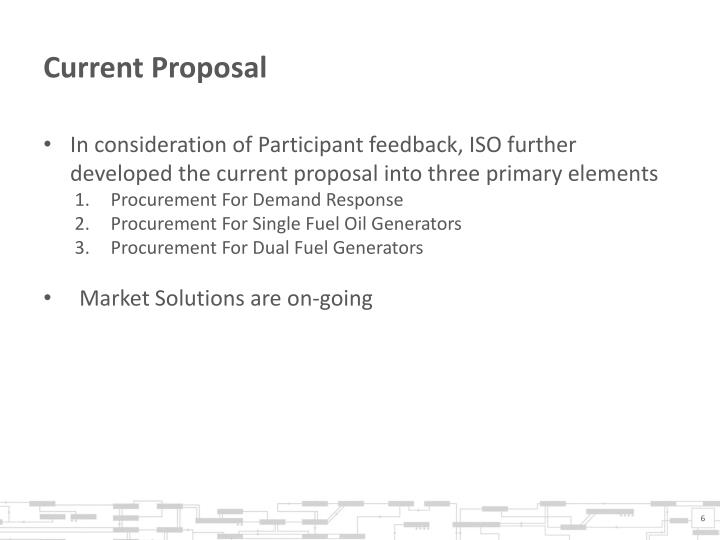 Current Proposal