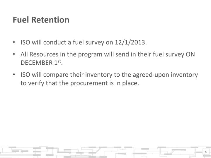 Fuel Retention