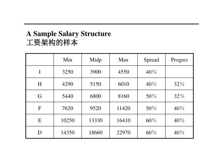 A Sample Salary Structure