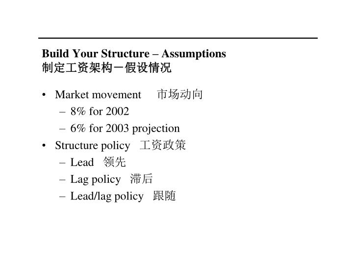 Build Your Structure  Assumptions
