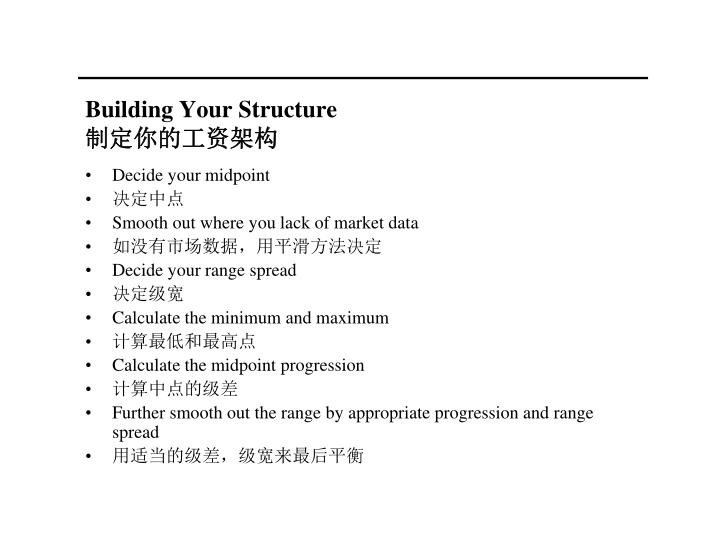 Building Your Structure