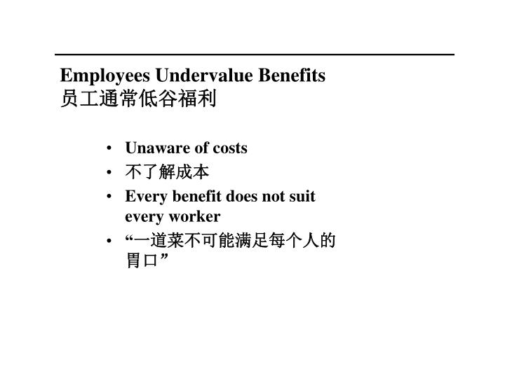 Employees Undervalue Benefits