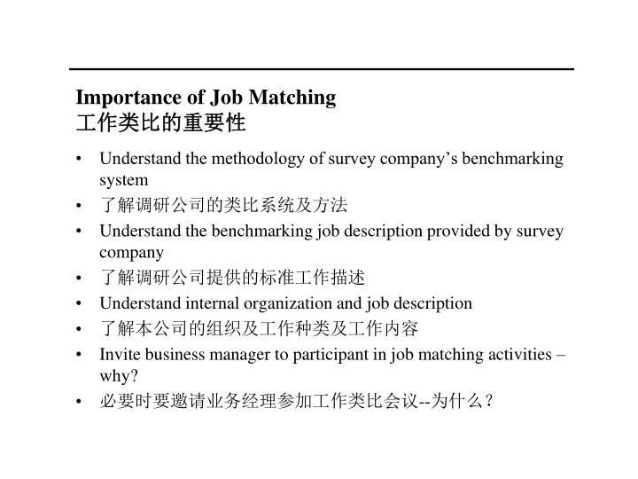 Importance of Job Matching