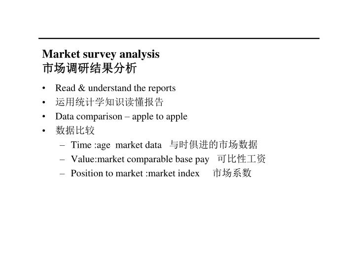 Market survey analysis