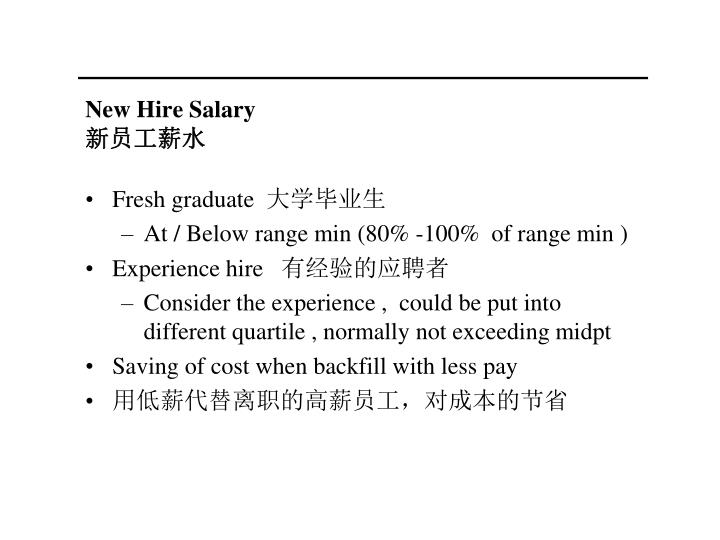 New Hire Salary