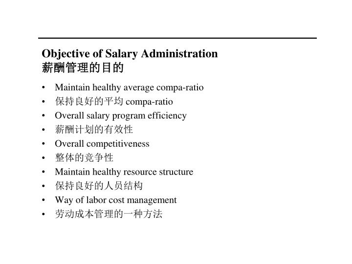 Objective of Salary Administration
