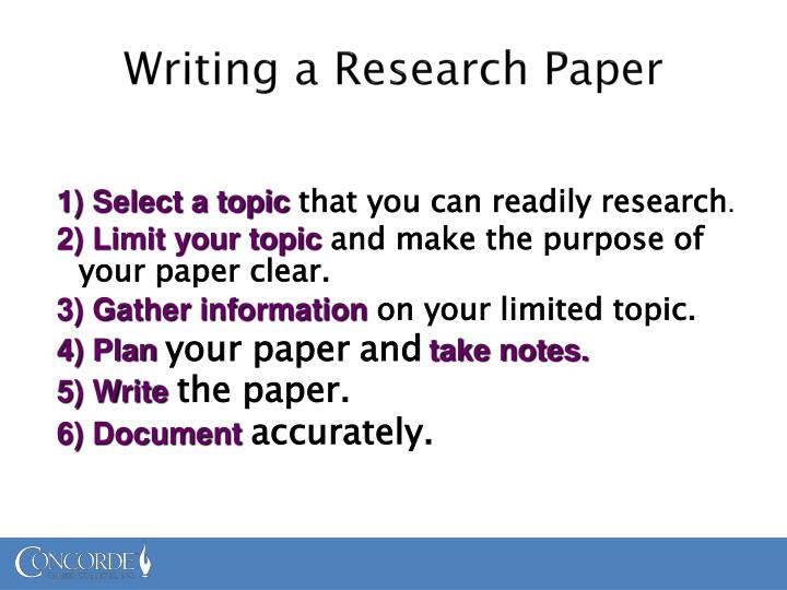 tips for researching a paper