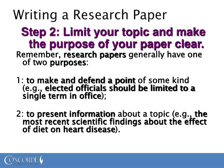 powerpoint presentation writing a research paper