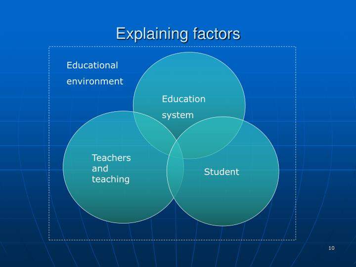 Explaining factors