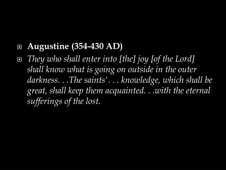 Augustine (354-430 AD)