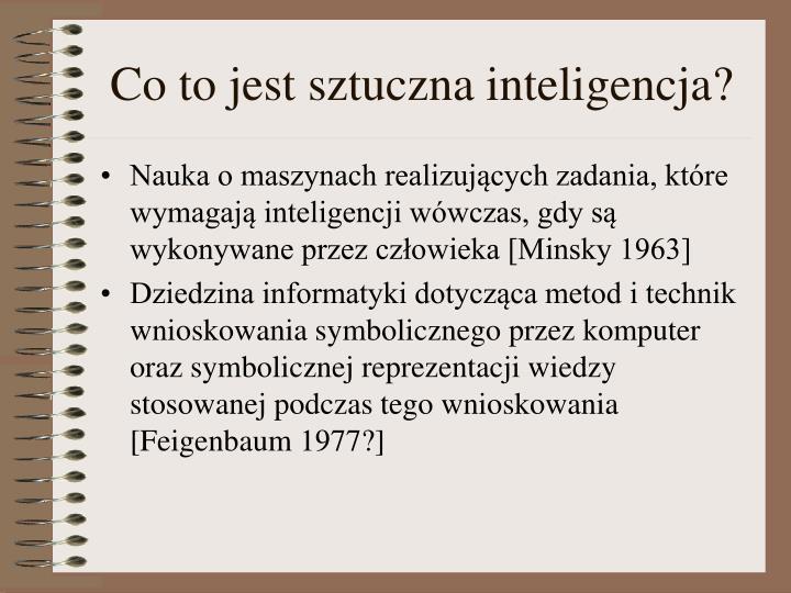 Co to jest sztuczna inteligencja?