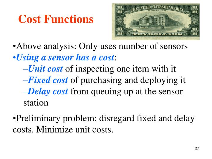 Cost Functions