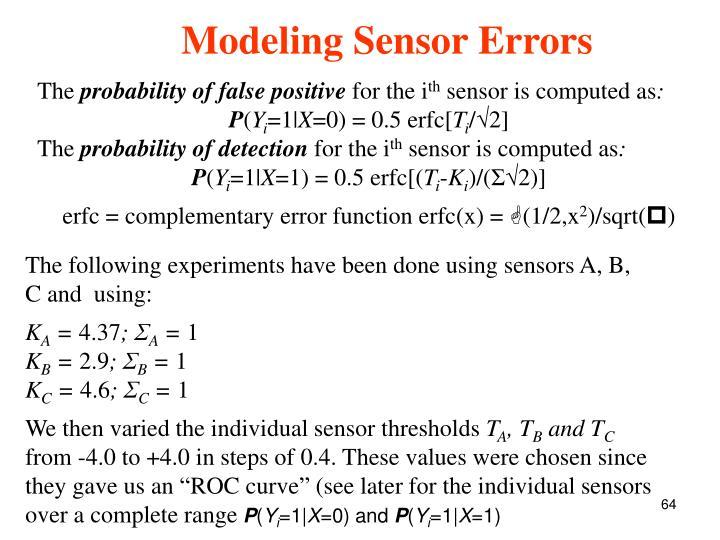 Modeling Sensor Errors