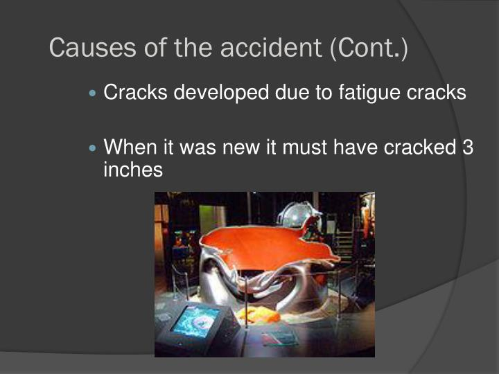 Causes of the accident (Cont.)